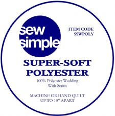 "Super-soft polyester wadding 88"" width"